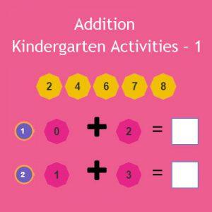 Addition Kindergarten Activities