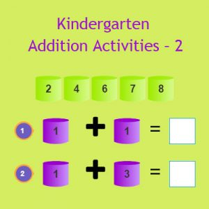 Kindergarten Addition Activities – 2 Kindergarten Addition Activities – 2