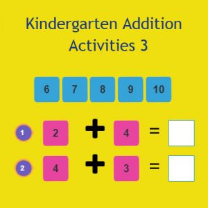 Addition Activities Kindergarten – 3 Addition Activities Kindergarten – 3