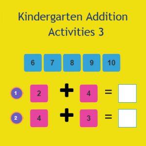 Addition Activities Kindergarten
