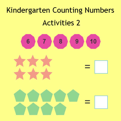 Kindergarten Counting Numbers Activities 2 Kindergarten Counting Numbers Activities 2