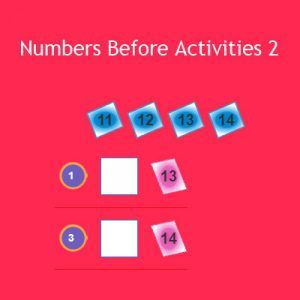 Numbers Before Activities 2 Numbers Before Activities 2