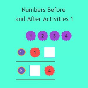 Numbers Before and After Activities 1
