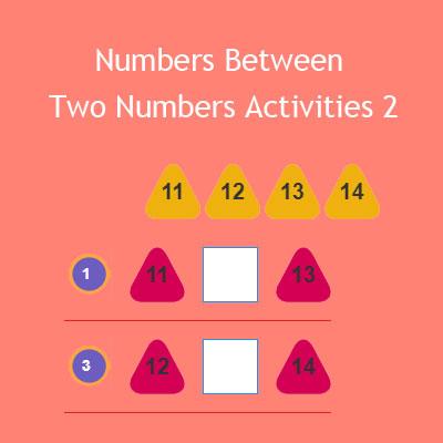 Numbers Between Two Numbers Activities 2