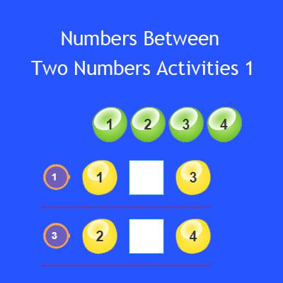 Numbers Between Two Numbers Activities 1