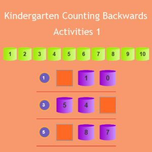 Kindergarten Counting Backwards Activities 1 Kindergarten Counting Backwards Activities 1