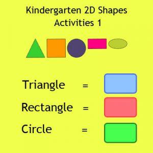 Kindergarten 2D Shapes Activities 1