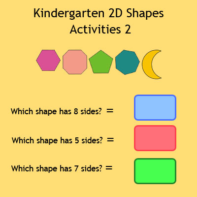 Kindergarten 2D Shapes Activities 2