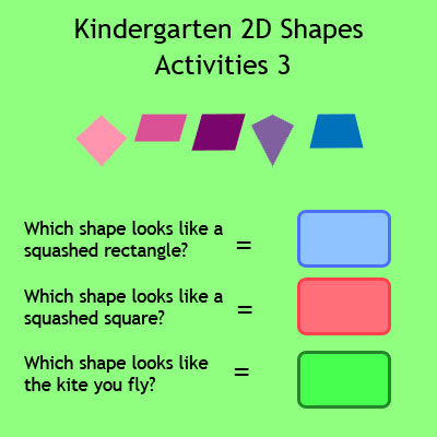 Kindergarten 2D Shapes Activities 3 Kindergarten 2D Shapes Activities 3