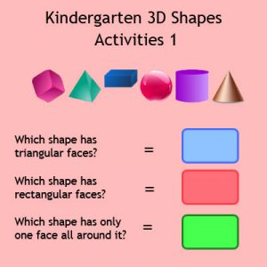 Kindergarten 3D Shapes Activities 1 Kindergarten 3D Shapes Activities 1