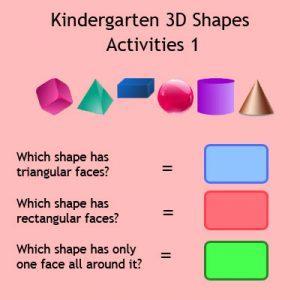 Matching Rhyming Words Activity 9 Kindergarten 3D Shapes Activities 1
