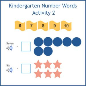 Kindergarten Number Words Activity 2 Kindergarten Number Words Activity 2