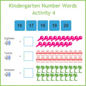 Kindergarten Number Words Activity 4 Kindergarten Number Words Activity 4