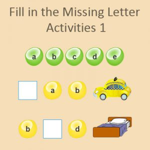 Fill in the Missing Letter Activities 1 Fill in the Missing Letter Activities 1