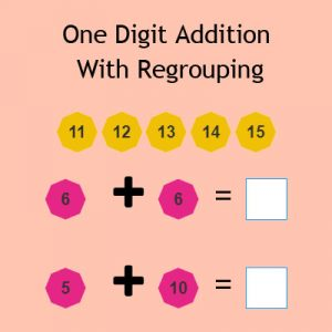 One Digit Addition With Regrouping