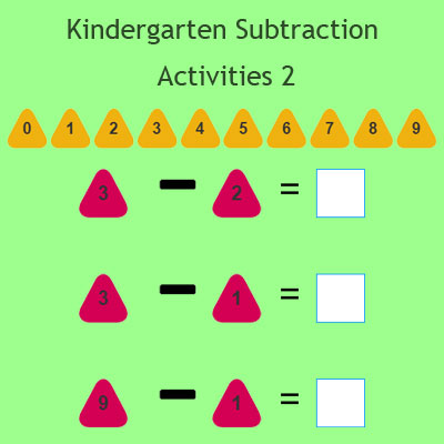 Kindergarten Subtraction Activities 2 Kindergarten Subtraction Activities 2