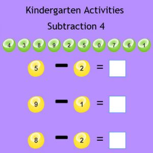 Kindergarten Activities Subtraction 4 Kindergarten Activities Subtraction 4