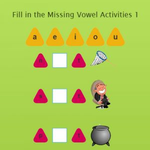 Fill in the Missing Vowel Activities 1 Fill in the Missing Vowel Activities 1