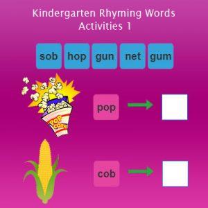 Kindergarten Rhyming Words Activities 1 Kindergarten Rhyming Words Activities 1