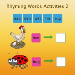 Rhyming Words Activities 2 Rhyming Words Activities 2