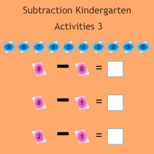 Subtraction Kindergarten Activities 3 Subtraction Kindergarten Activities 3