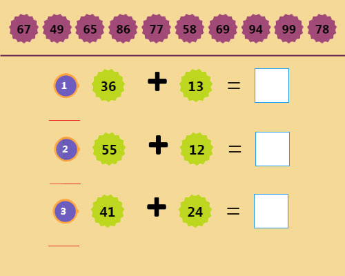 Two Digit Addition Activity 2