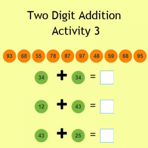Two Digit Addition Activity 3
