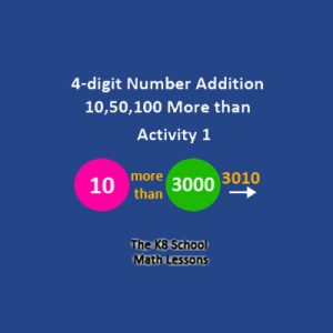 Four Digit Number Addition 10,50,100 More than Four Digit Number Addition 10,50,100 More than