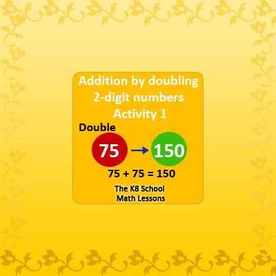 Addition by Doubling Two-Digit Numbers Activity 1