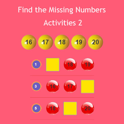Find the Missing Numbers Activities 2