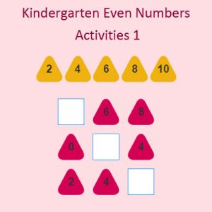 Kindergarten Even Numbers Activities 1 Kindergarten Even Numbers Activities 1