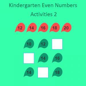 Kindergarten Even Numbers Activities 2 Kindergarten Even Numbers Activities 2