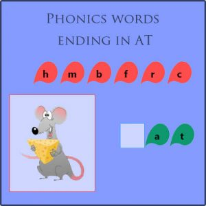 Phonics words ending in at Phonics words ending in at