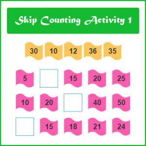 Subject and Predicate of a Sentence Skip Counting Activity 1