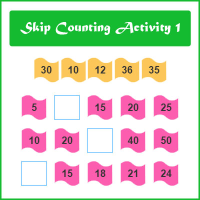 Skip Counting Activity 1