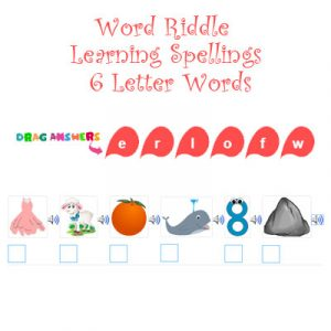 Subject and Predicate of a Sentence Word Riddle Learning Spellings – 6 Letter Words