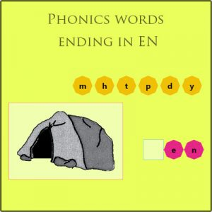 Phonics words ending in en Phonics words ending in en