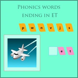 Phonics words ending in et Phonics words ending in et