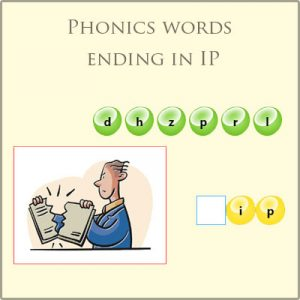 Phonics words ending in ip
