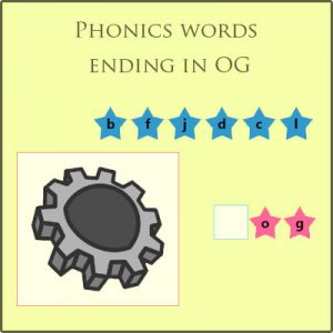 Phonics words ending in OG Phonics words ending in OG