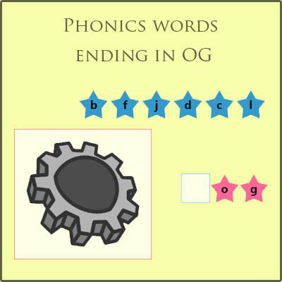 Phonics words ending in OG Phonics words ending in OG
