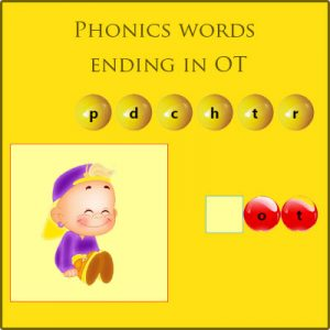 Phonics words ending in OT Phonics words ending in OT
