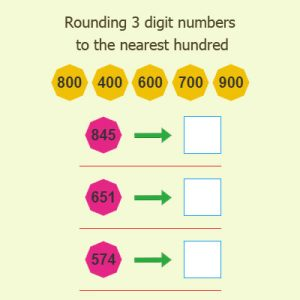 Rounding 3 digit numbers to the nearest hundred Rounding 3 digit numbers to the nearest hundred