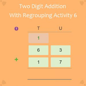 Two Digit Addition With Regrouping Activity 6