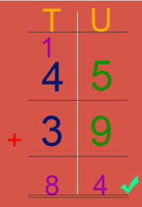 Key Stage One How to add two-digit numbers with regrouping