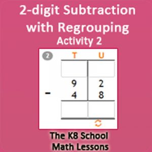 2 digit Subtraction with Regrouping Activity 2 2 digit Subtraction with Regrouping Activity 2