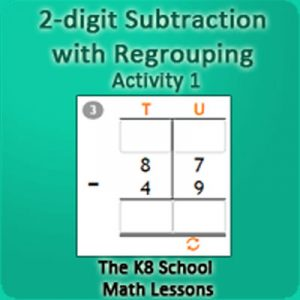 2 digit Subtraction with Regrouping Activity 1 2 digit Subtraction with Regrouping Activity 1