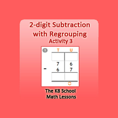 2 digit Subtraction with Regrouping Activity 3