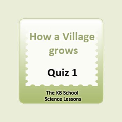 How a village grows Quiz 1