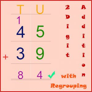 Missing Addend Worksheet 5 How to add two digit numbers with regrouping